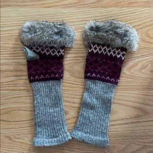 Hands half mittens